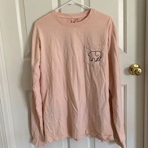 Ivory Ella Light Orange Longe Sleeve Tee